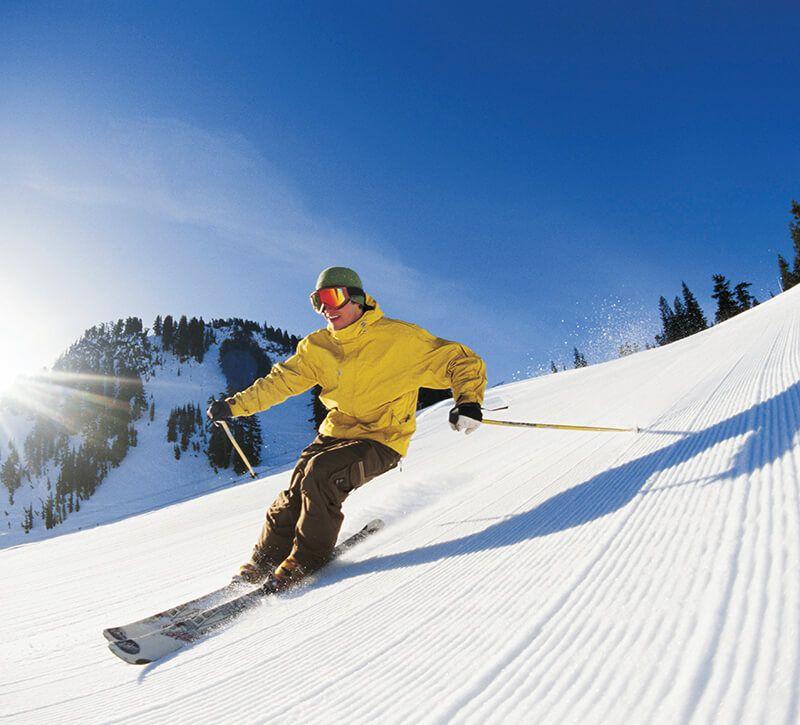 norwegen ski berge und meer