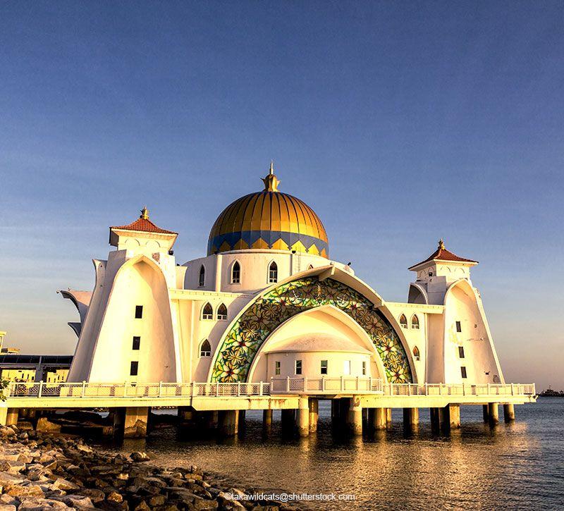 malaysia melaka moschee berge und meer