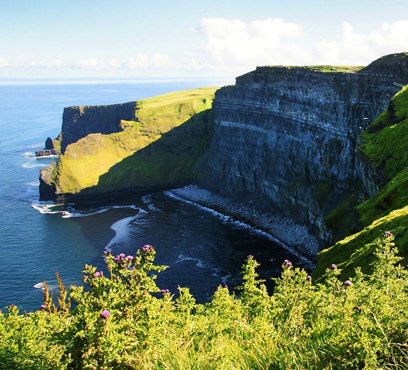 irland klippen berge und meer