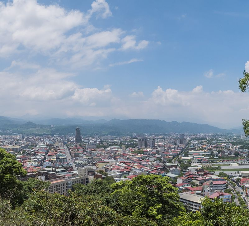 taiwan puli berge und meer