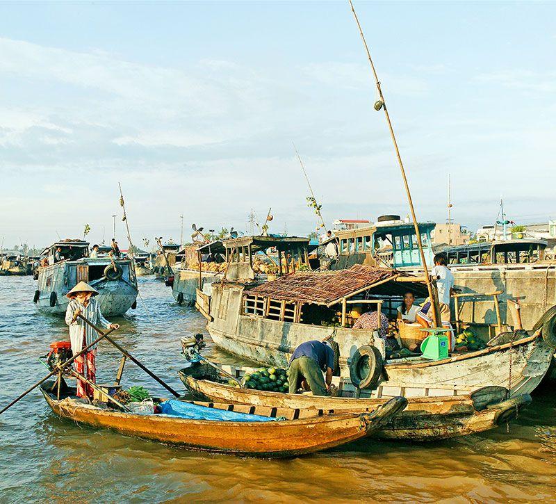 vietnam flotte berge und meer