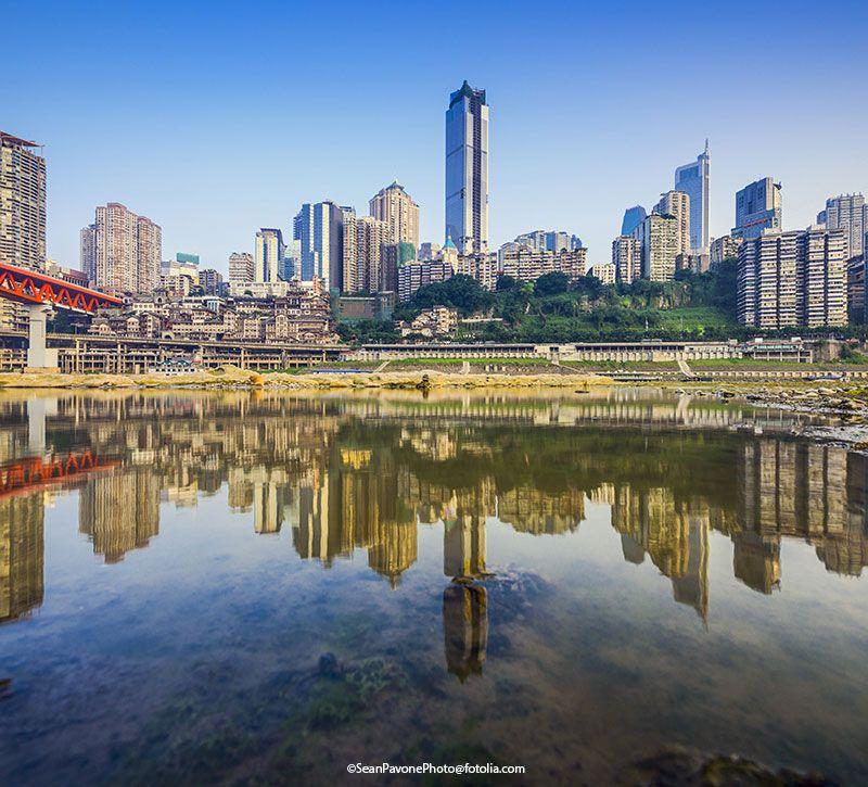 china chongqing berge und meer