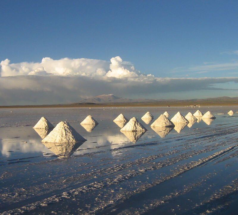 bolivien salar berge und meer