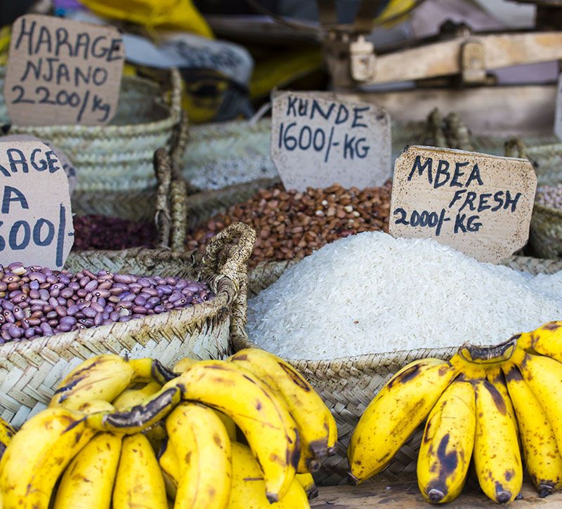 tansania foodmarket berge und meer