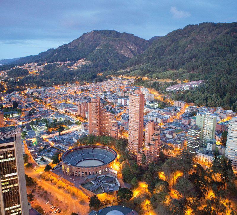 kolumbien bogot berge und meer