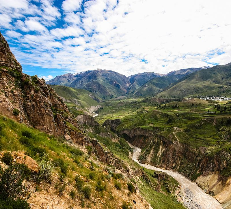 peru arequipa berge und meer