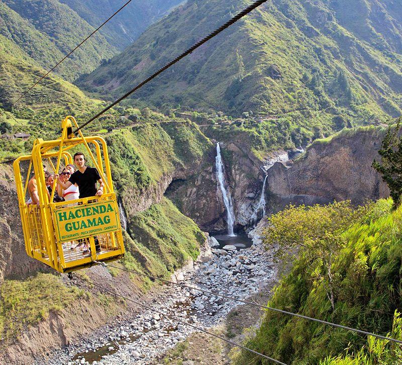 ecuador tungurahua berge und meer
