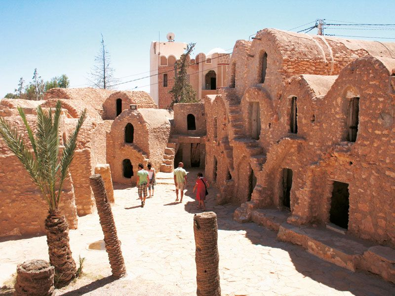 tunesien tataouine berge und meer