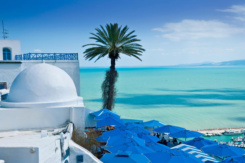 tunesien berge und meer