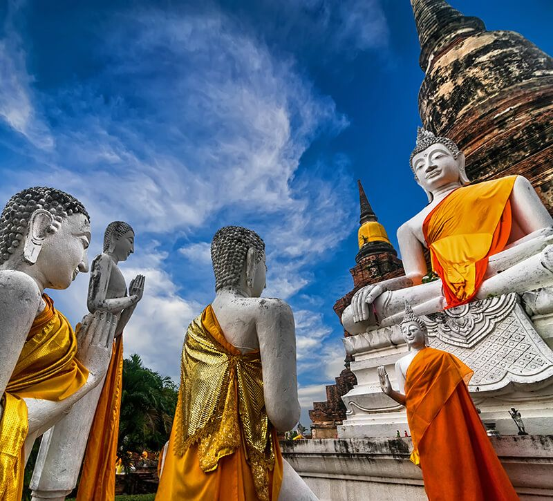 thailand ayutthaya berge und meer