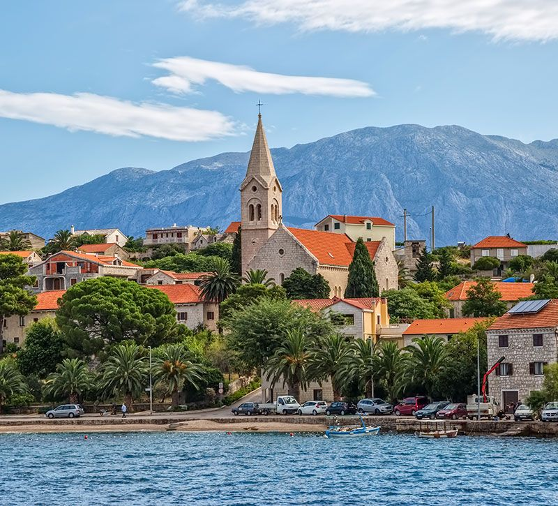 kroatien brac island dario bajurin berge und meer