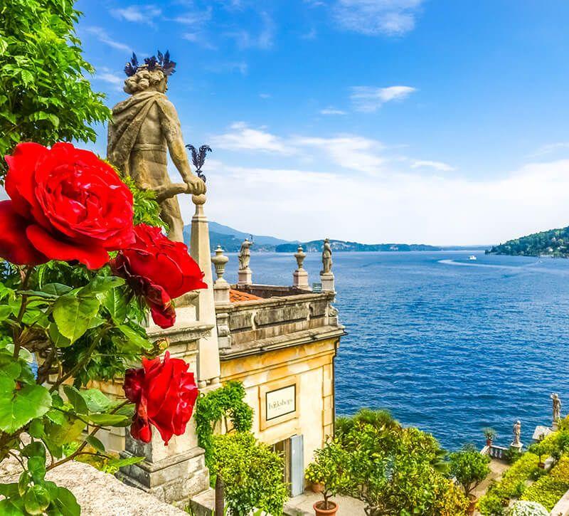 italien lago maggiore berge und meer