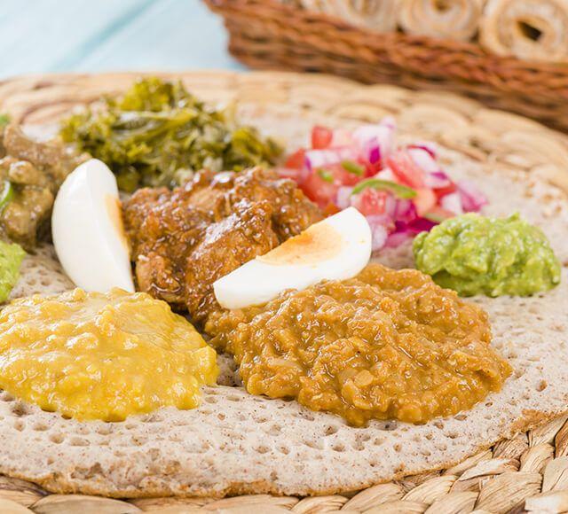 aethiopien essen berge und meer