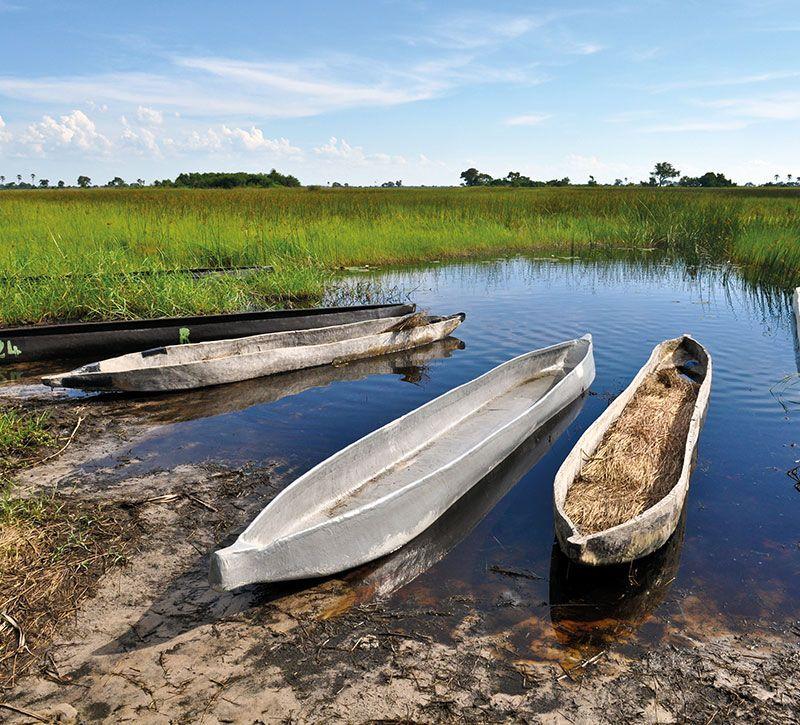 botswana okavango berge und meer