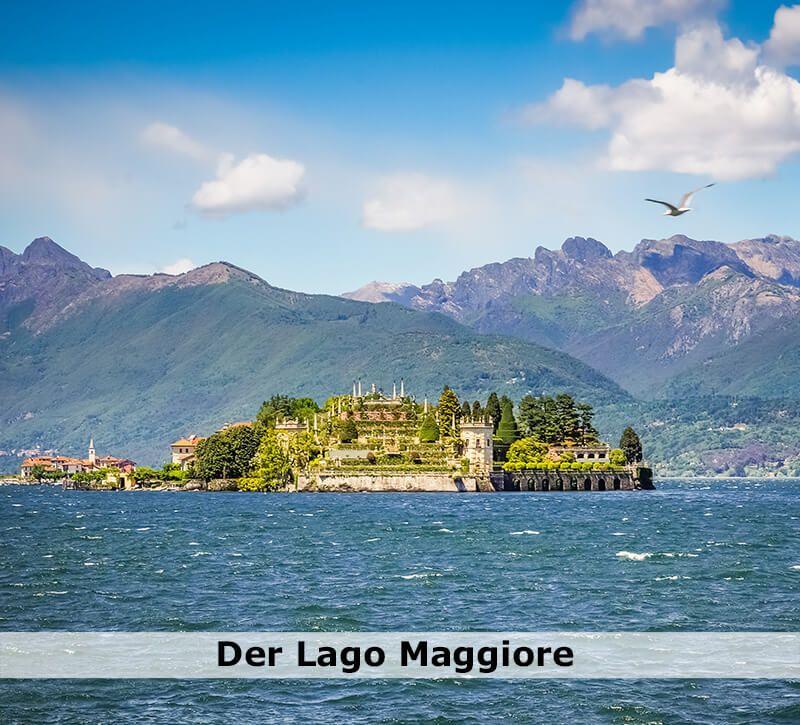 italien der lago maggiore berge und meer