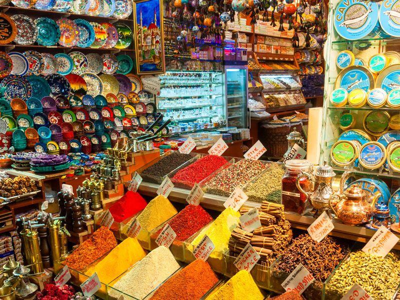 tunesien bazar berge und meer