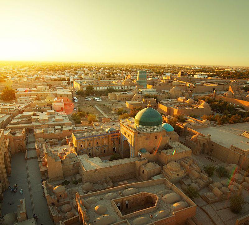 usbekistan berge und meer