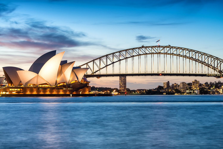 Australien, Sydney, Opernhaus berge und meer