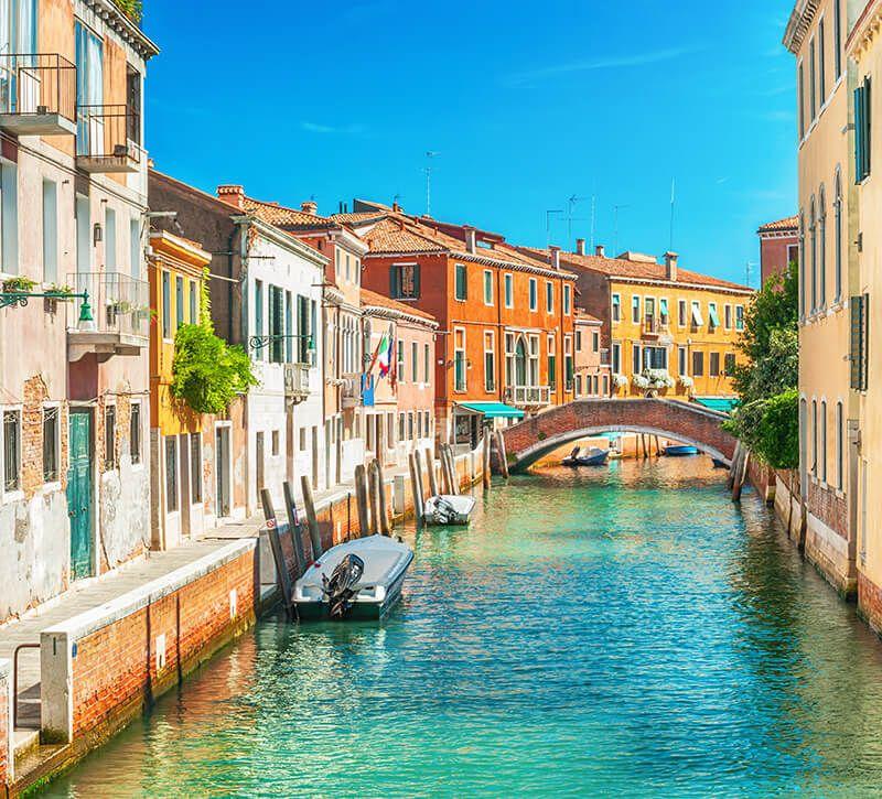 italien venedig berge und meer