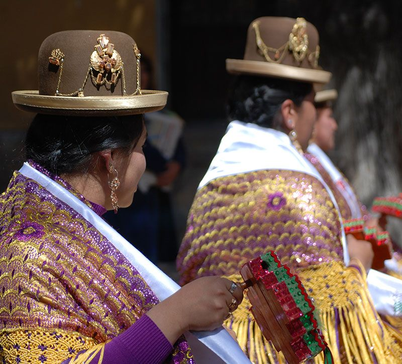 bolivien kultur berge und meer