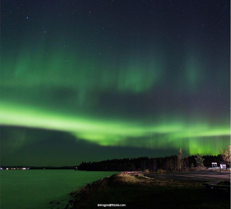 schweden polarlicht berge und meer