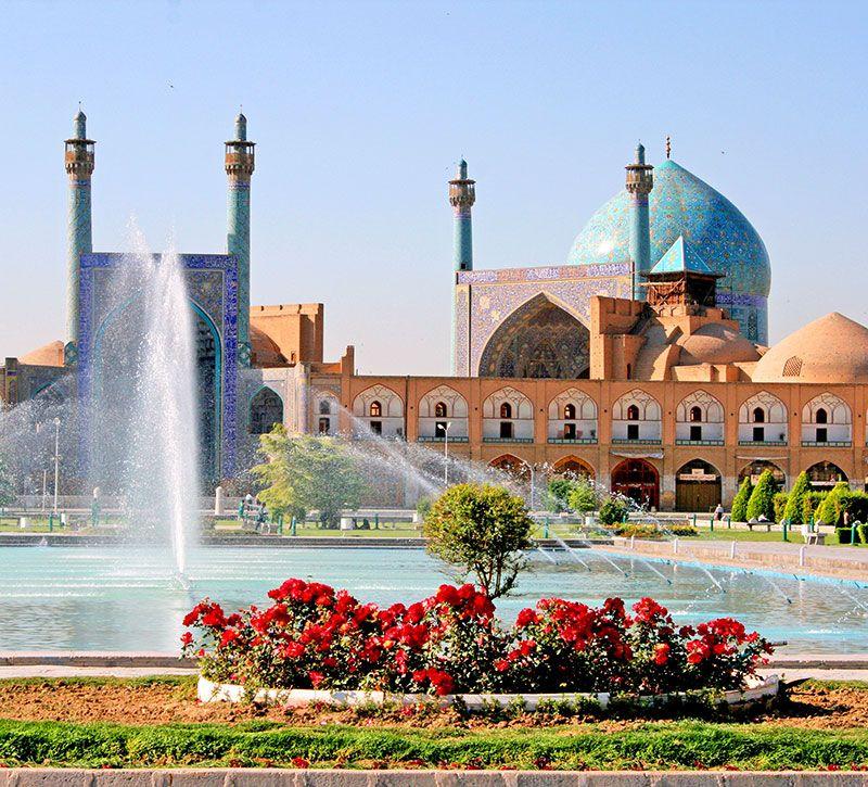 iran meidan platz isfahan berge und meer