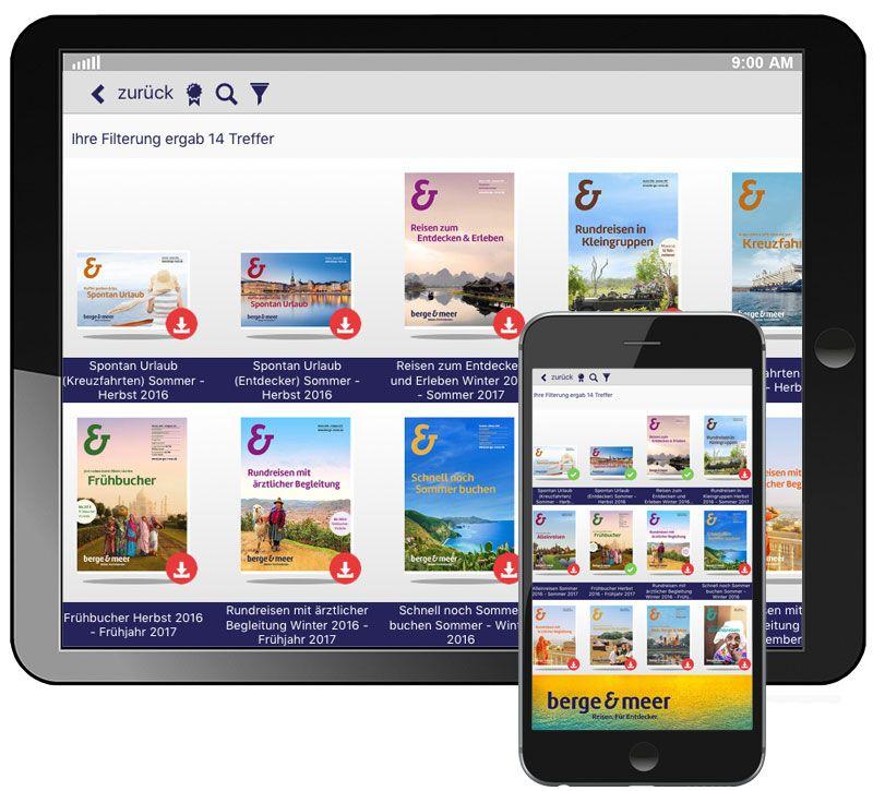 info app suchfunktion kataloge berge und meer