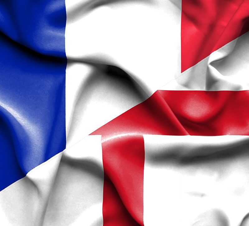 kanada flagge berge und meer