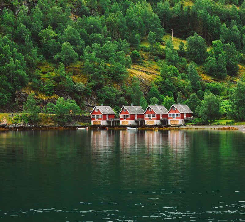 norwegen flam berge und meer