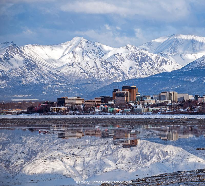 Alaska Anchorage  berge und meer