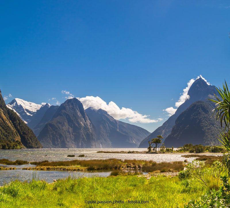 neuseeland natur berge und meer