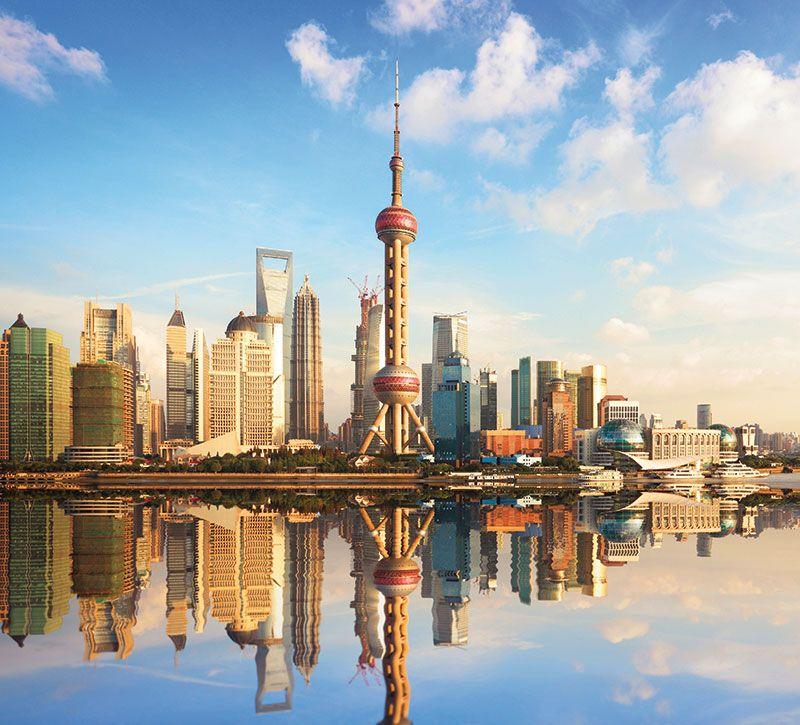 china shanghai berge und meer