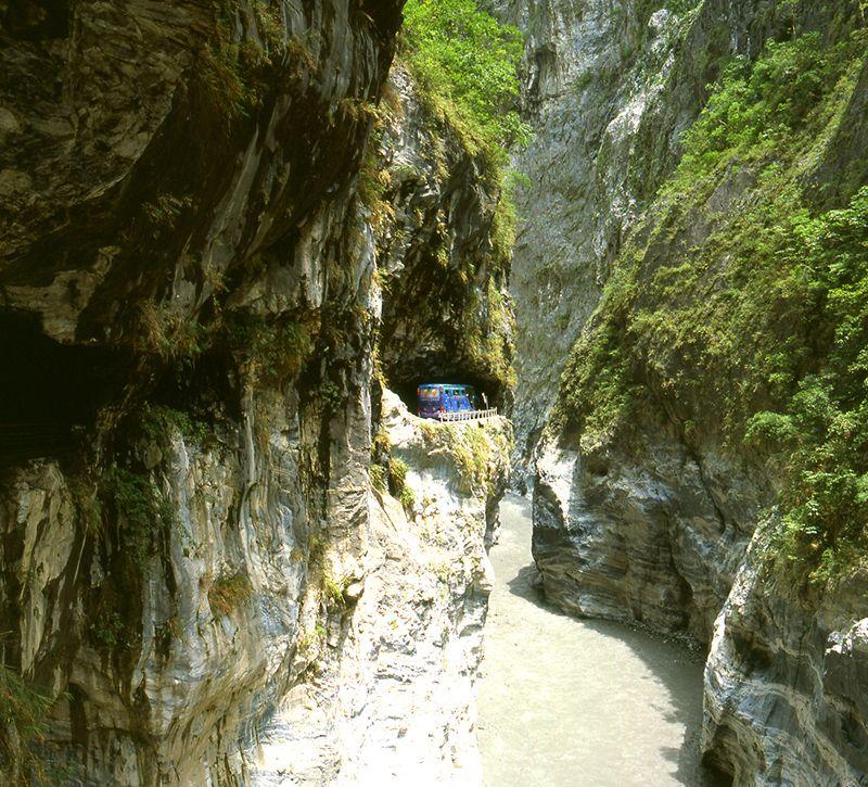 taiwan taroko schlucht berge und meer