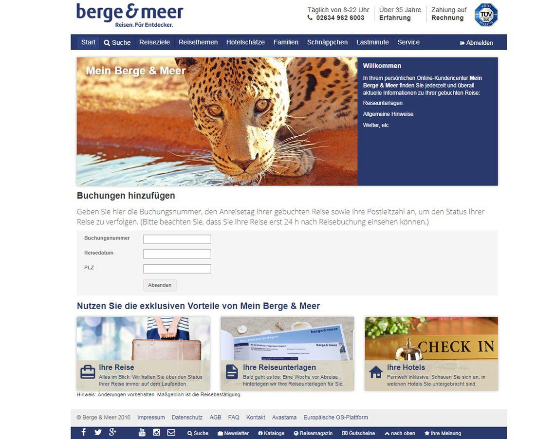FAQ Online Kundencenter  berge und meer