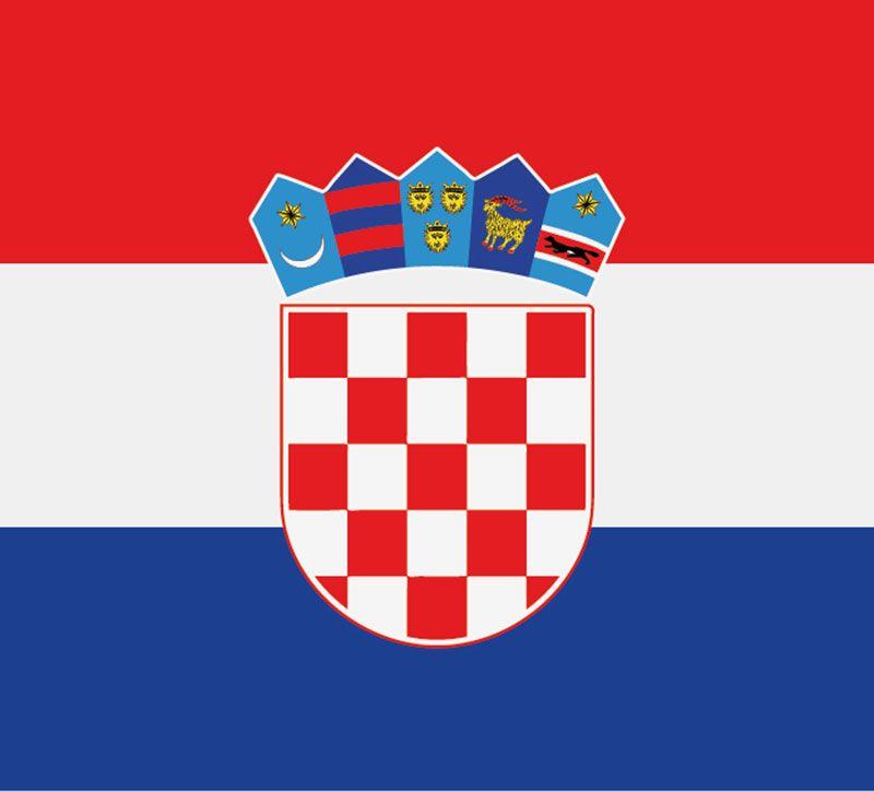 kroatien flagge berge und meer