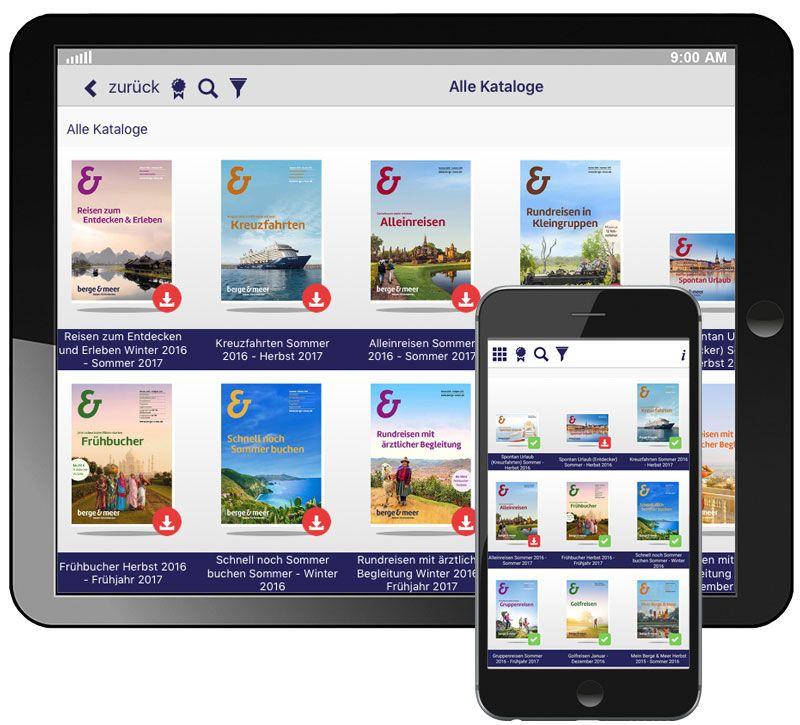 info app suchfunktion berge und meer
