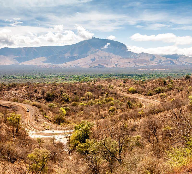 aethiopien mago np berge und meer