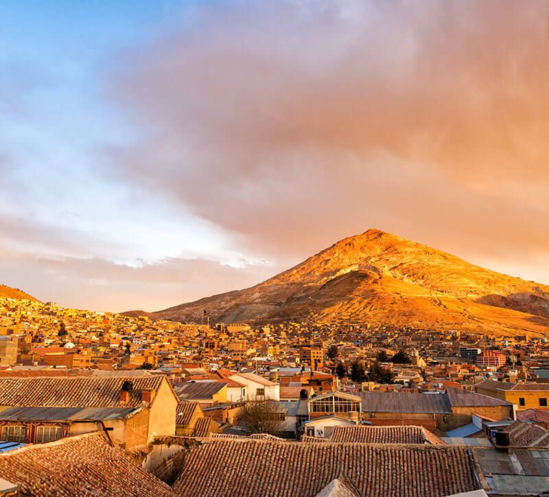 bolivien potosi berge und meer