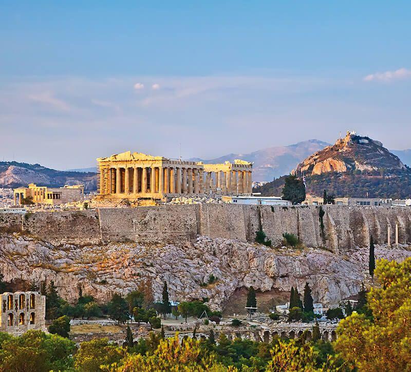 griechenland athen berge und meer