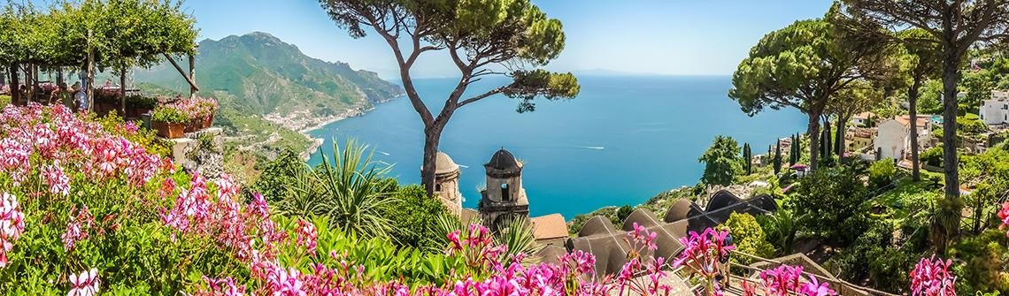 Italien Golf von Neapel berge und meer