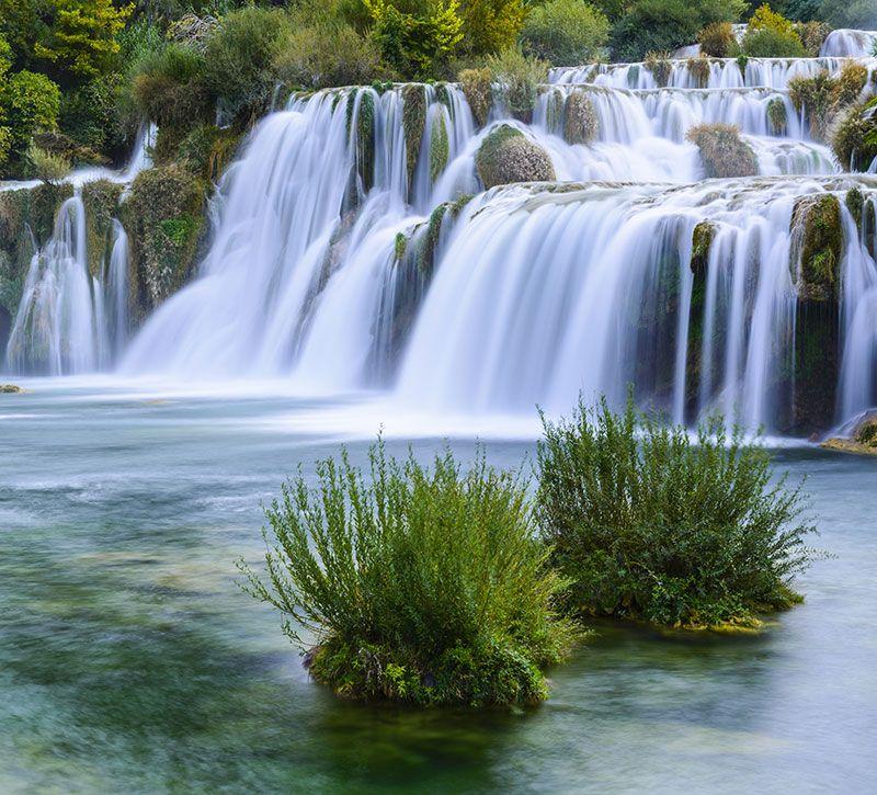 kroatien waterfalin krka national park croatia noradoa berge und meer