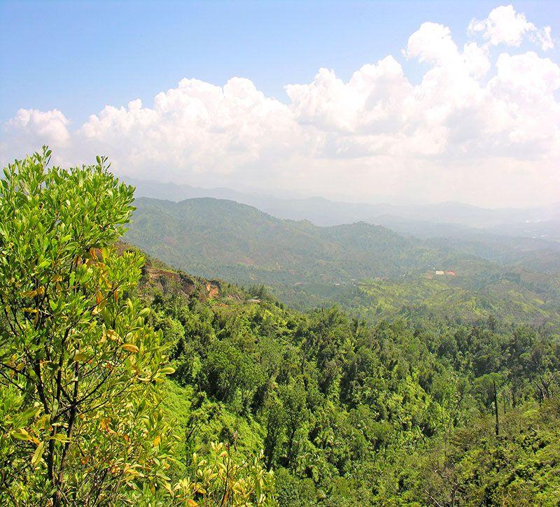 dominikanische republik bm cordillera central berge und meer