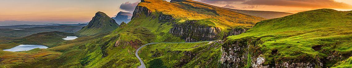 Schottland berge und meer
