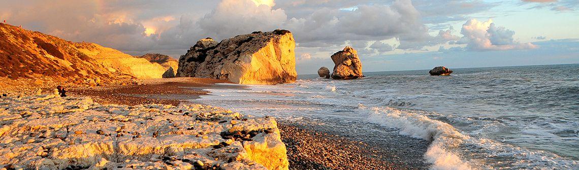 Zypern Aphrodite Felsen berge und meer