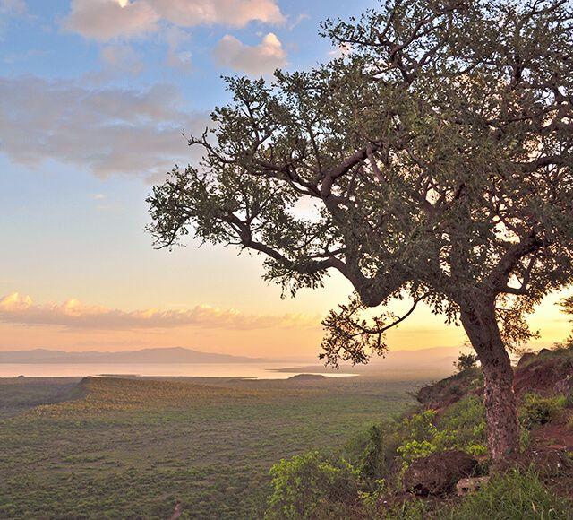 aethiopien landschaft berge und meer