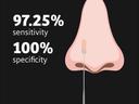 Prikaz nosa s umetnutim štapićem