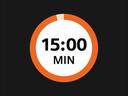 Prikaz sata i vremena od 15 minuta