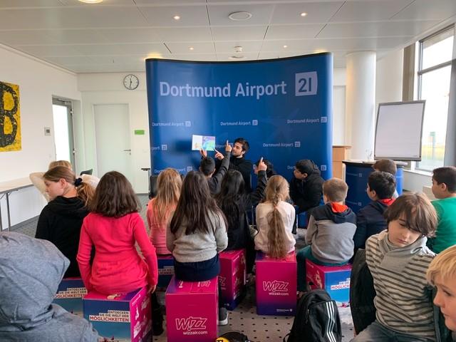 Vorlesetag dortmund airport 2019