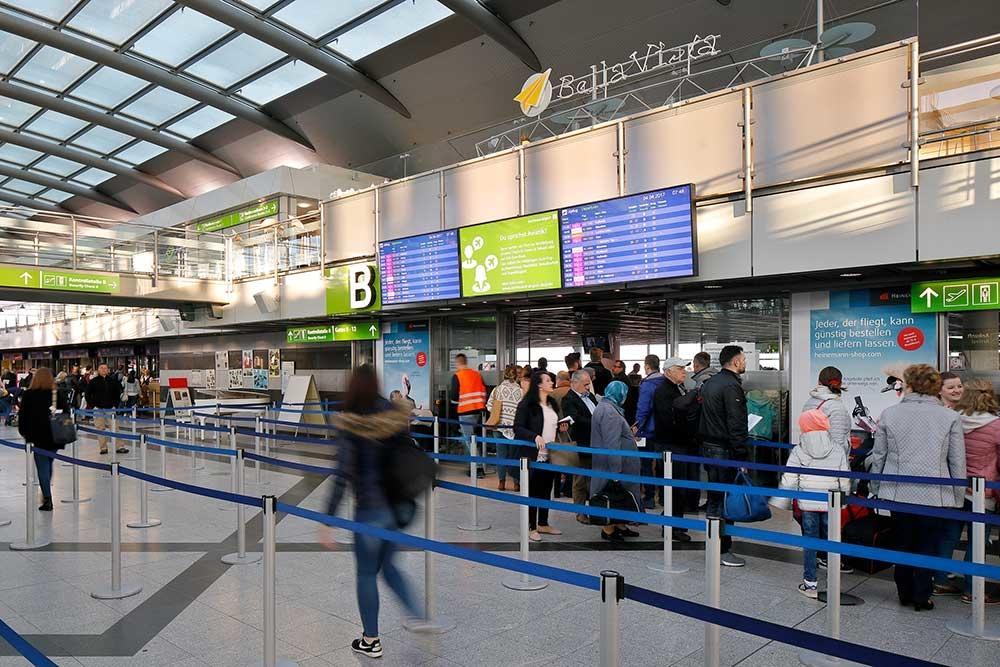Dooh medien am dortmund airport