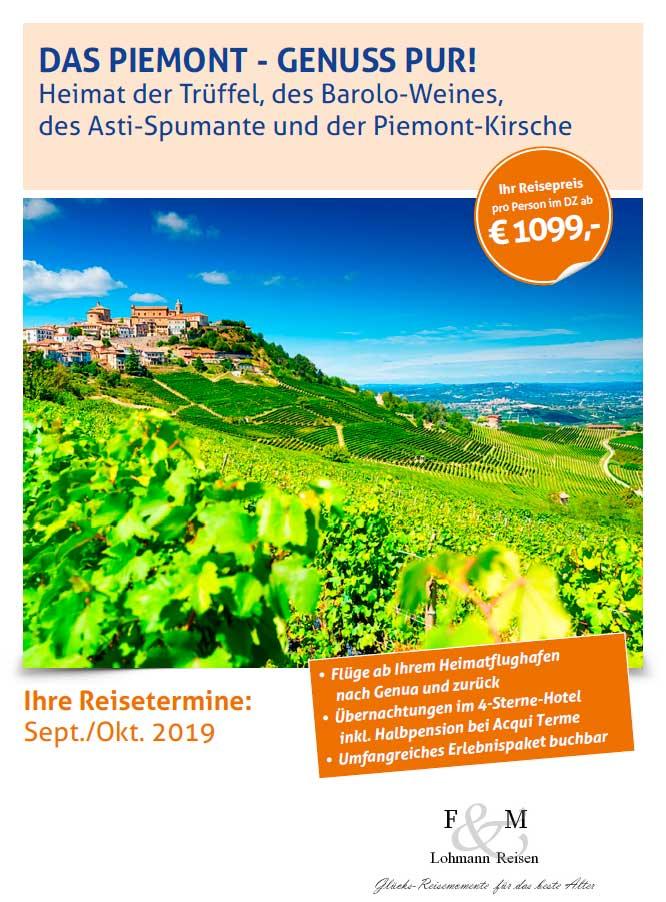 Piemont italien broschuerentitel lohmann reisen 2019